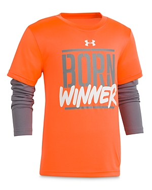 Under Armour Boys' Born Winner Layered-Look Tee - Little Kid