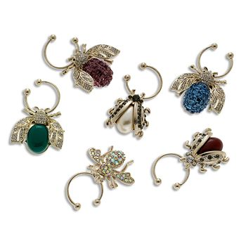 Joanna Buchanan - Bee Wine Charms, Set of 6