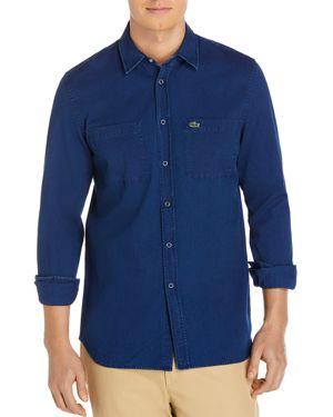 Lacoste Denim Long Sleeve Button-Down Shirt