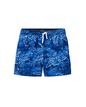 Ralph Lauren Childrenswear Boys TropicalPrint Swim Trunks  Little Kid