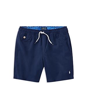 Ralph Lauren Childrenswear Boys Solid Swim Trunks  Big Kid