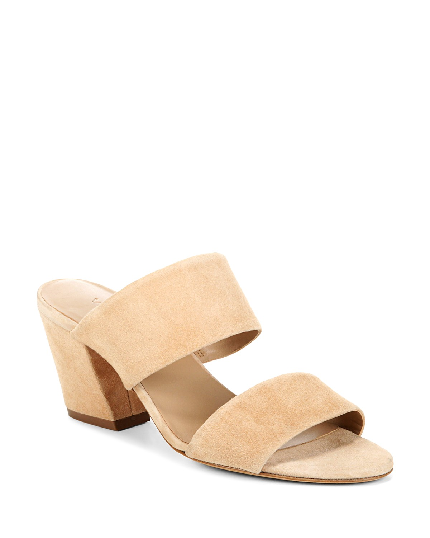 Vince Women's Benetta Leather Block Heel Slide Sandals 8q1DNH3