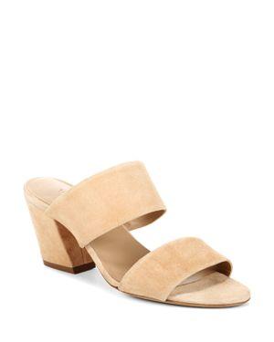 Vince Women's Benetta Suede Block Heel Slide Sandals