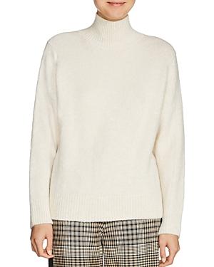 Maje Malou Mock Neck Sweater
