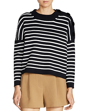 Maje Market Stripe Sweater