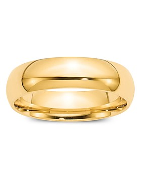 Bloomingdale's - Men's 6mm Comfort Fit Band Ring in 14K Yellow Gold - 100% Exclusive
