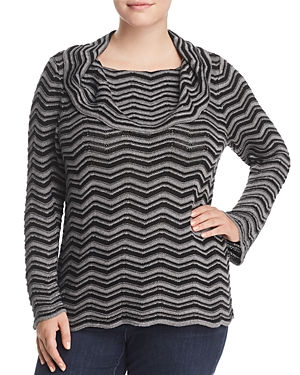 Nic+Zoe Chevron Stripe Sweater