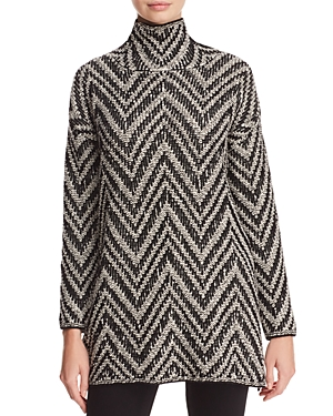 Eileen Fisher Chevron Tunic Sweater