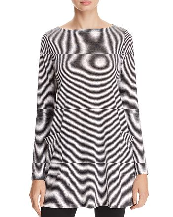 552047a3077 Eileen Fisher Boat Neck Striped Linen Tunic | Bloomingdale's