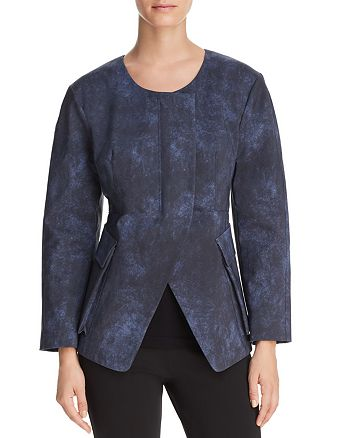 Donna Karan - Collarless Split-Front Jacket