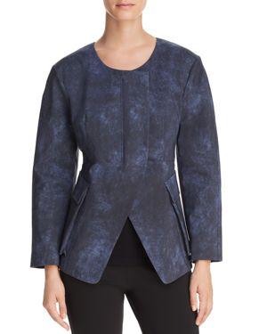 Donna Karan New York Collarless Split-Front Jacket