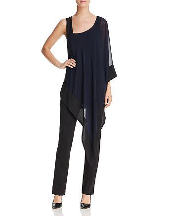 Donna Karan - Draped One Sleeve Asymmetric Top