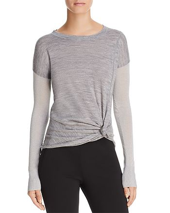 Donna Karan - Twisted-Front Sweater
