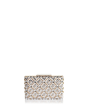Sondra Roberts Jeweled Satin Box Clutch