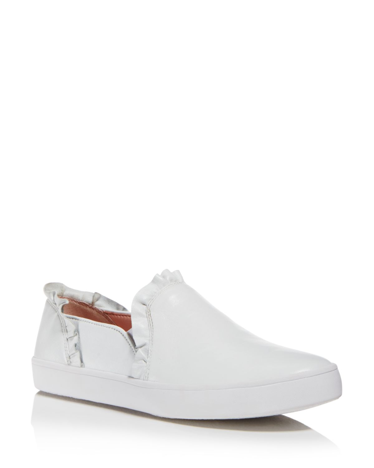 Kate Spade New York Women's Lilly Ruffle-Trim Leather Slip-On Sneakers
