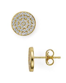 AQUA - Sterling Silver Circle Stud Earrings - 100% Earrings