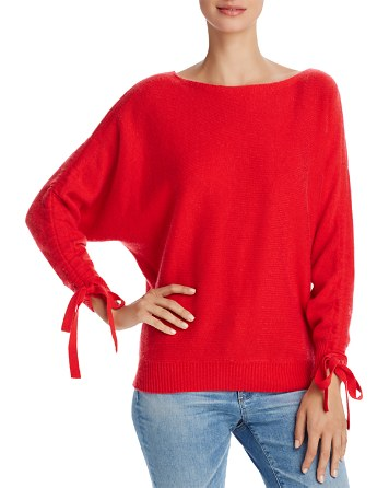 $Joie Dannee Ruched-Sleeve Wool & Cashmere Sweater - Bloomingdale's