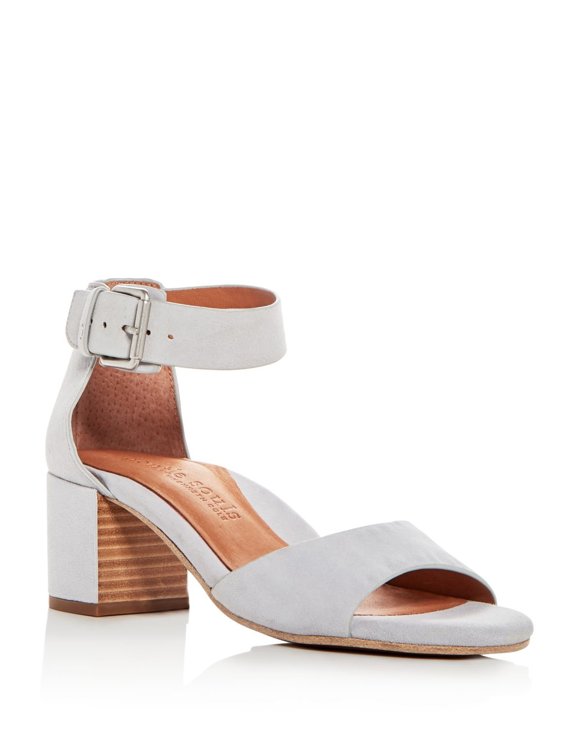 Kenneth Cole Gentle Souls Women's Christa Suede Ankle Strap Block Heel Sandals