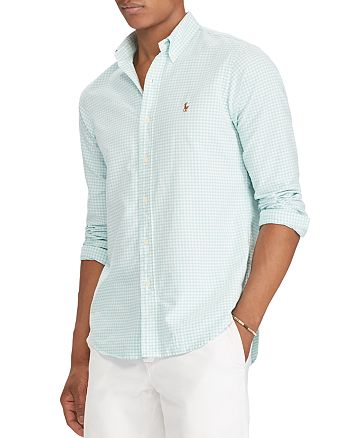 c6124a315097 Polo Ralph Lauren Gingham Oxford Classic Fit Button-Down Shirt ...