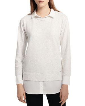 Calvin Klein Layered-Look French Terry Sweatshirt