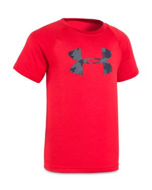 Under Armour Boys' Printed-Big-Logo Tee - Little Kid