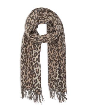 Reiss Abby Leopard Cashmink Scarf