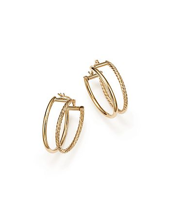 Bloomingdale's - Double Twisted Oval Hoop Earrings in 14K Yellow Gold - 100% Exclusive