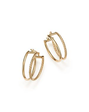 Bloomingdale's Double Twisted Oval Hoop Earrings in 14K Yellow Gold - 100% Exclusive