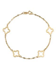 Bloomingdale's - Quatrefoil Station Bracelet in 14K Yellow Gold - 100% Exclusive Product Description