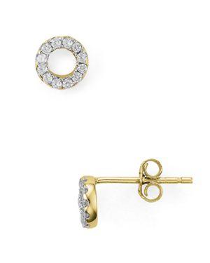 Aqua Sterling Silver Circle Stud Earrings - 100% Exclusive