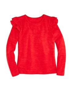 AQUA Girls' Ruffled-Shoulder Sweater, Big Kid - 100% Exclusive - Bloomingdale's_0