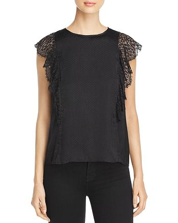Michael Stars - Lace-Trimmed Top
