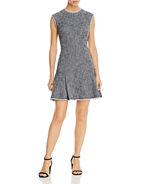 Rebecca Taylor Fringed Fit-and-Flare Dress