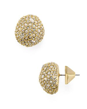 Alexis Bittar Pave Button Earrings