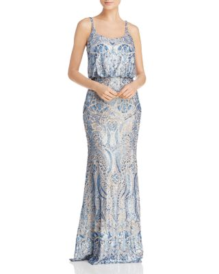 $AQUA Sequin Lace Blouson Gown - 100% Exclusive - Bloomingdale's