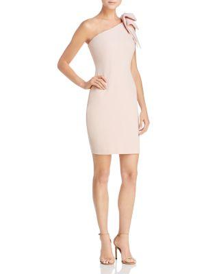 $AQUA One-Shoulder Scuba Dress - 100% Exclusive - Bloomingdale's