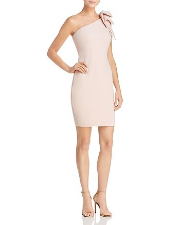 AQUA - One-Shoulder Scuba Dress - 100% Exclusive