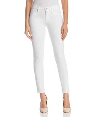 Nico Ankle Super Skinny Jeans In White