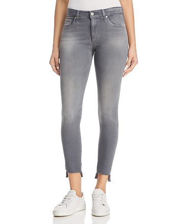 AG - Farrah Ankle Skinny Jeans in 10 Years Shadow Grey