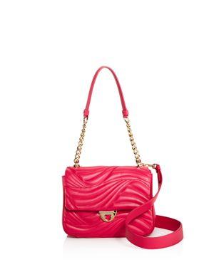 Salvatore Ferragamo Lexi Waves Small Leather Shoulder Bag 2676026