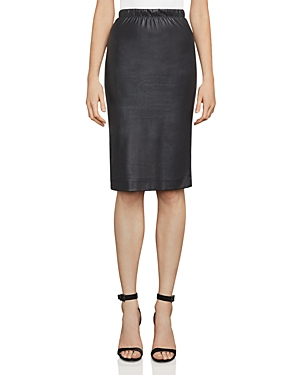Bcbgmaxazria Lyric Faux-Leather Pencil Skirt