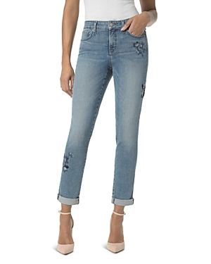 Nydj Embroidered Boyfriend Jeans in Pacific