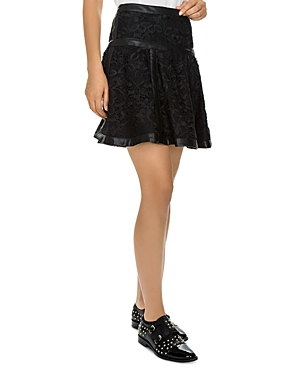 The Kooples Floral-Pattern Lace Skirt
