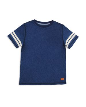 7 For All Mankind Boys' Tee with Striped Sleeves - Big Kid