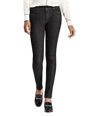 Lauren Ralph Lauren Embroidered Skinny Jeans in Black