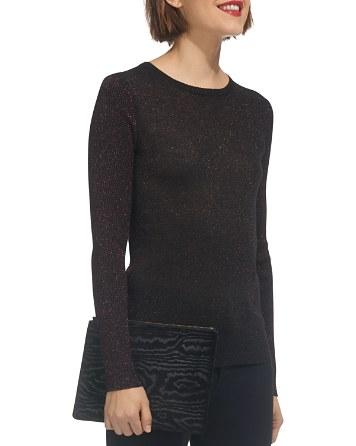 $Whistles Sparkle Knit Color-Block Sweater - Bloomingdale's