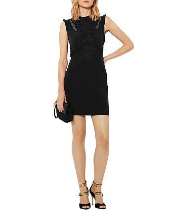 KAREN MILLEN - Lace-Embellished Mini Dress