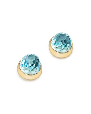 Bloomingdale's Blue Topaz Faceted Stud Earrings in 14K Yellow Gold - 100% Exclusive