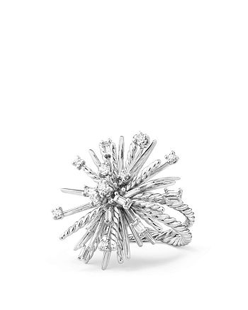 David Yurman - Supernova Ring with Diamonds in 18K White Gold