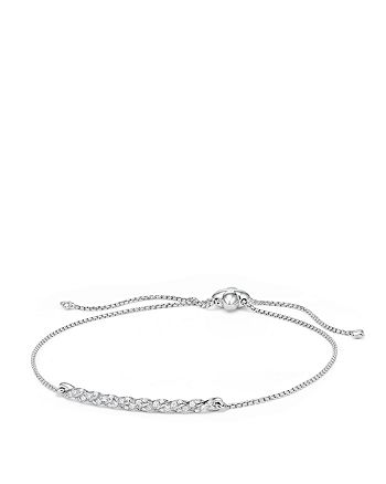 David Yurman - Paveflex Station Bracelet with Diamonds in 18K White Gold